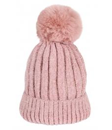 Зимна шапка 001 розова