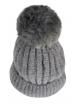 Зимна шапка 001сива