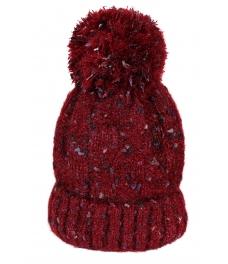 Зимна шапка 004 бордо меланж