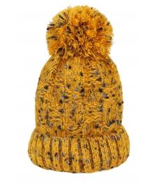 Зимна шапка 004 жълт меланж