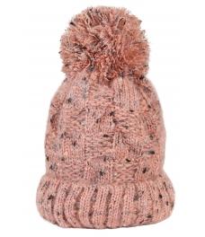 Зимна шапка 004 розов меланж