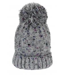 Зимна шапка 004 сив меланж