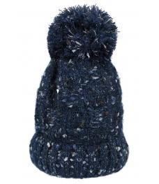 Зимна шапка 004 син меланж