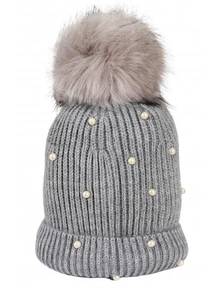 Зимна шапка 005 сива
