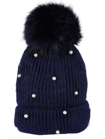 Зимна шапка 005 тъмно синя