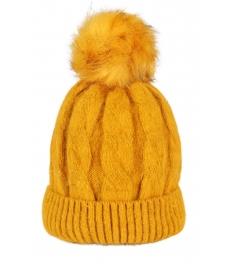 Зимна шапка 006 жълта