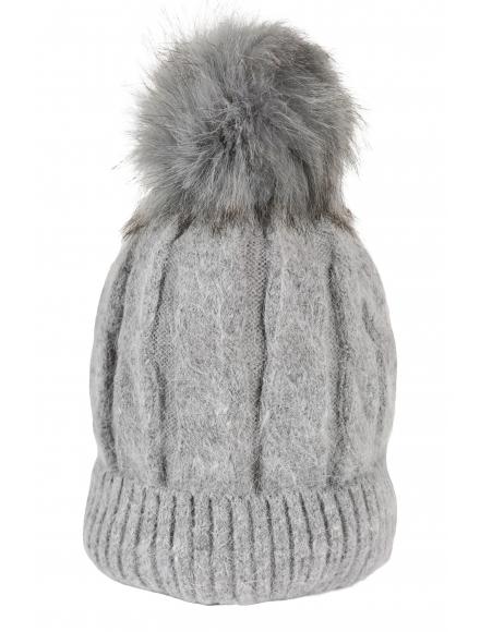 Зимна шапка 006 сива