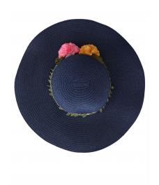 Дамска сламена шапка ВЕДРА тъмно синя