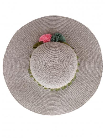 Дамска сламена шапка ВЕДРА сива