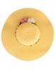 Дамска сламена шапка ВЕДРА жълта