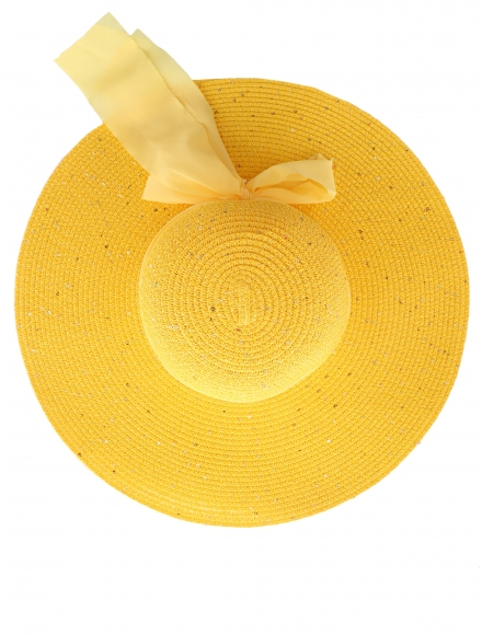 Дамска сламена шапка РОЯЛ жълта