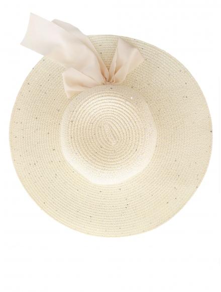 Дамска сламена шапка РОЯЛ екрю