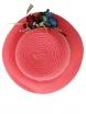 Дамска сламена шапка ПАПАЯ цвят диня