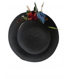 Дамска сламена шапка ПАПАЯ черен