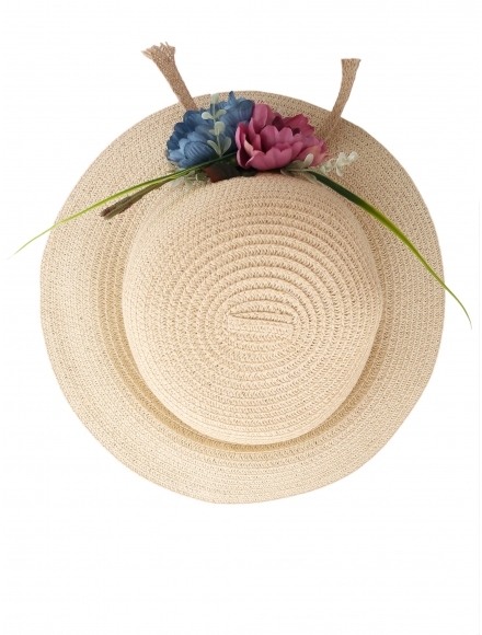 Дамска сламена шапка ПАПАЯ бежова