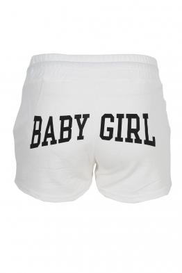 Дамски шорти BABY GIRL бели