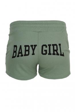 Дамски шорти BABY GIRL зелени