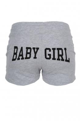 Дамски шорти BABY GIRL сиви
