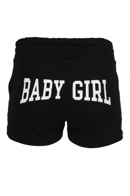Дамски шорти BABY GIRL черни