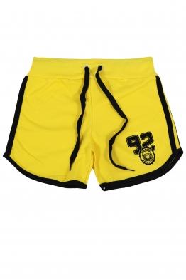 Дамски шорти SPORT C-1 жълти