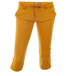 Дамски панталон капри 1565 жълт