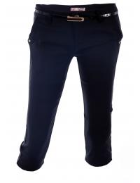 Дамски панталон капри 1565 тъмно син