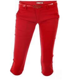 Дамски панталон капри 1565 червен