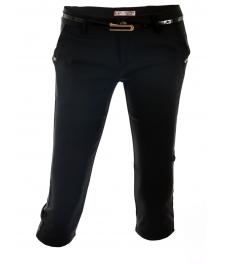 Дамски панталон капри 1565 черен