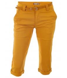 Дамски панталон капри H261 жълт