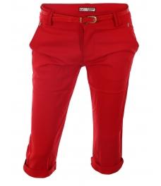 Дамски панталон капри H261 червен