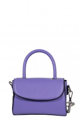 Дамска малка чанта през рамо 1336 лилава