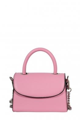 Дамска малка чанта през рамо 1336 розова