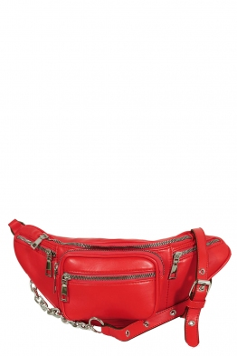 Дамска чанта за кръста 7249 червена