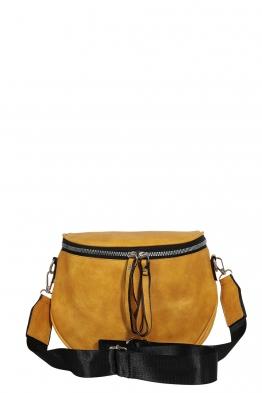 Дамска чанта през рамо 7620 горчица