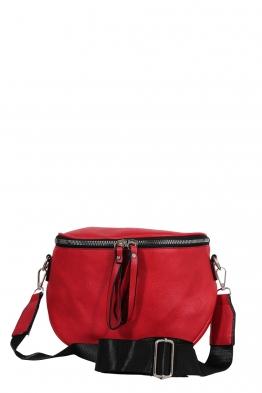 Дамска чанта през рамо 7620 червена