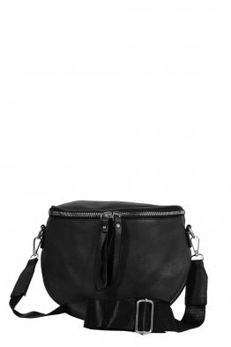 Дамска чанта през рамо 7620 черна