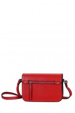 Дамска чанта през рамо 3950 червена