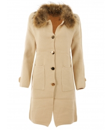 Дамско палто Алгара бежово