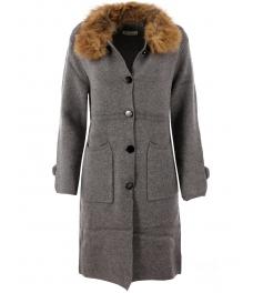 Дамско палто Алгара сиво
