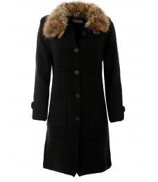 Дамско палто Алгара черно