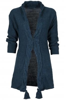 Дамска жилетка 0010 синя