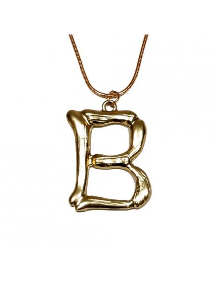 Дамско колие с буква B