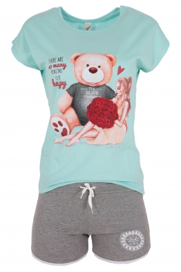 Дамски комплект BEAR AND GIRL D-1