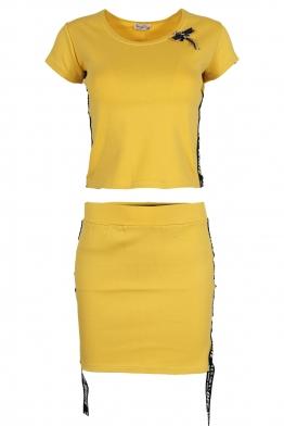 Дамски комплект OFF WHITE жълт