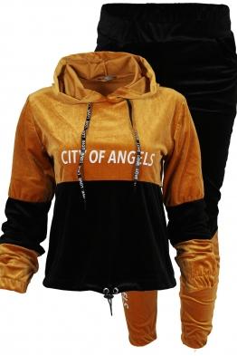 Дамски комплект ANGELS B-2 горчица-черно