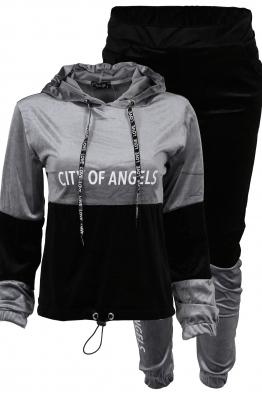Дамски комплект ANGELS B-3 сиво - черно