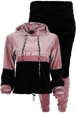 Дамски комплект ANGELS B-4 розово - черно