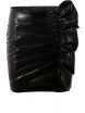 Къса пола от мачкан лак 8480 черна