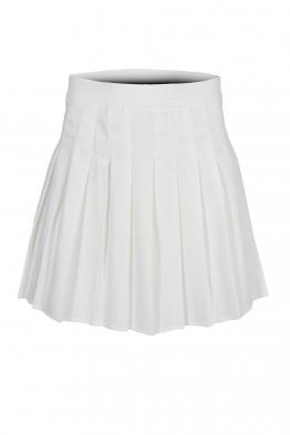 Къса пола плисирана АДМИРАЛ бяла