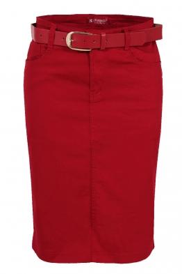 Пола с колан AF 3301 червена